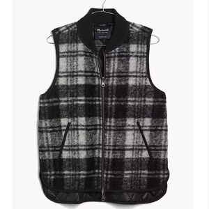 Madewell Reversible Wool Vest in Copeland Plaid